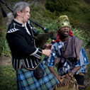 Scottish Pipes and African Drums